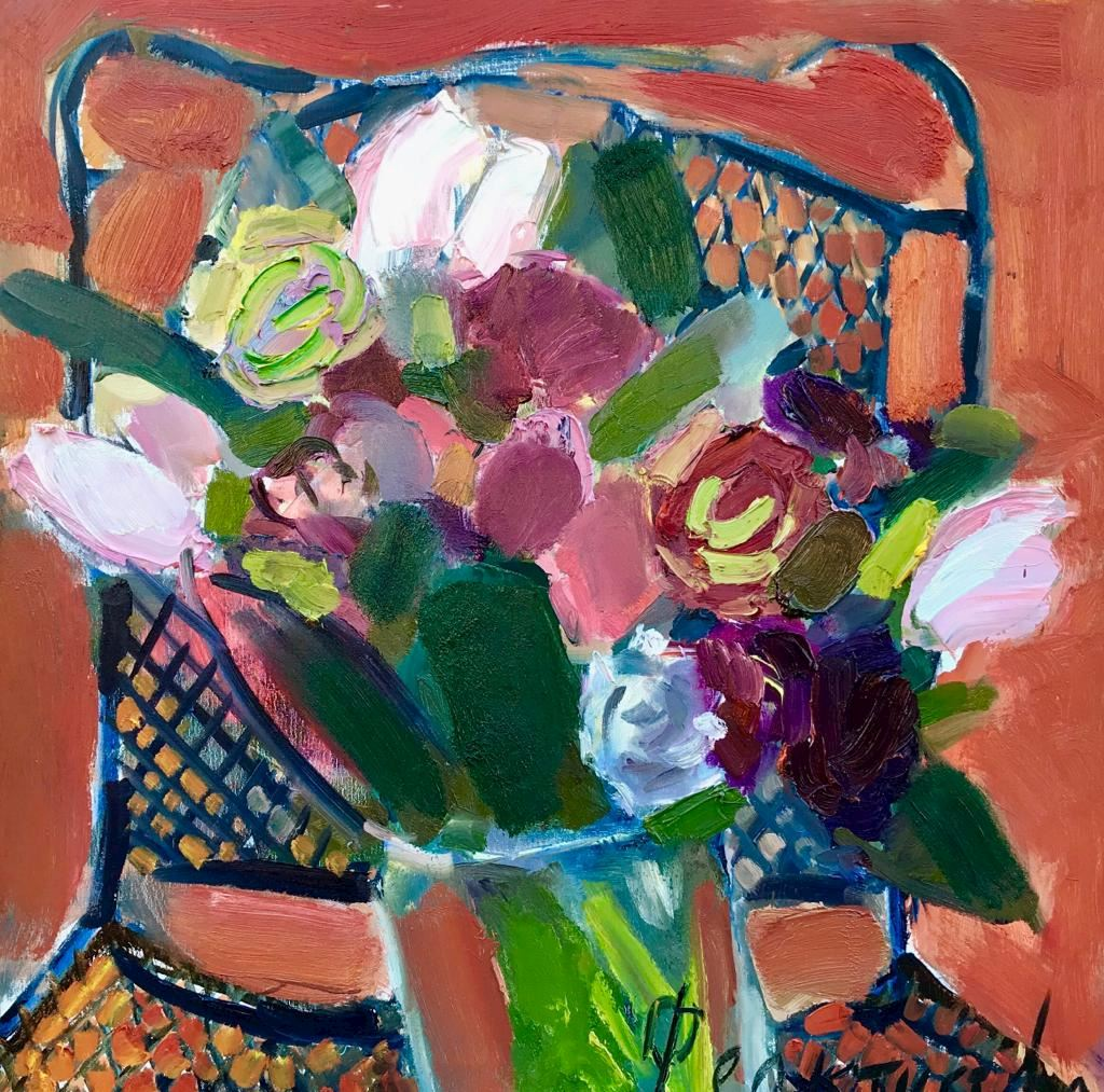 BOUQUET ON THE CHAIR